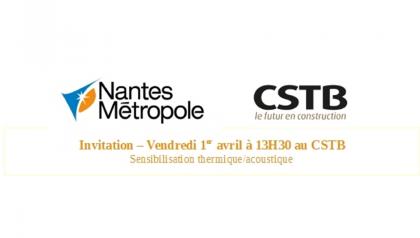 Invitation Conférence Nantes Métropole et cSTB