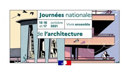 Visuel des Journées nationales de l'architecture, les 15, 16 et 17 octobre 2021