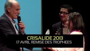 Michèle Potard recevant le Trophée crisalide 2013